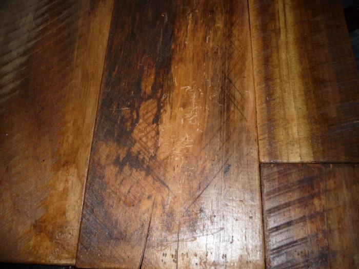 Old Growth Poplar Random Widths with rare circular saw marks - by Historic Flooring
