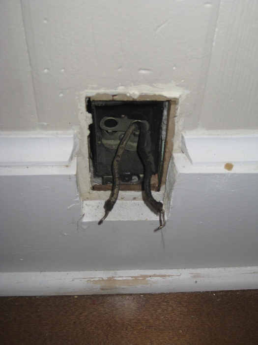 Outlet with 2 black wires.