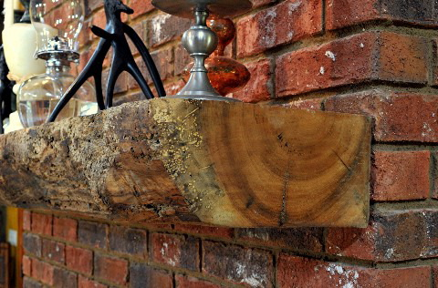 Reclaimed Wood Mantels - by Historic Flooring