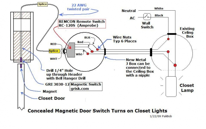 Schematic  Auto Switch for Closet Light