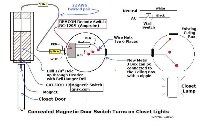 Schematic  Auto Switch for Closet Light