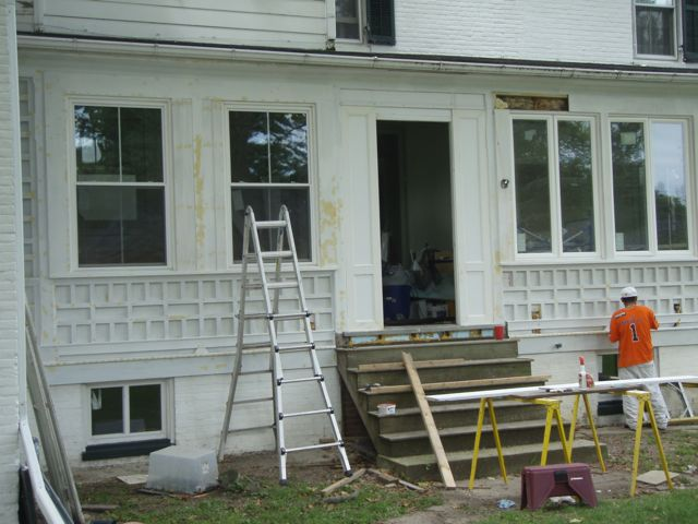 Sunporch exterior almost there