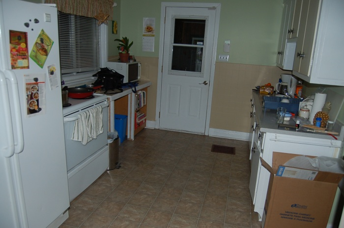 The kitchen..so far. Still much to be done here.