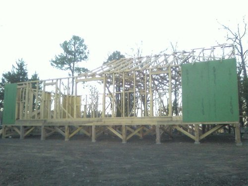Trusses half done